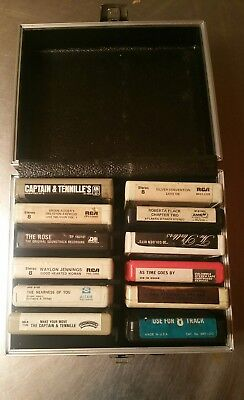 Lot Of 12 (Variety ) Music 8 Track tapes, With Case