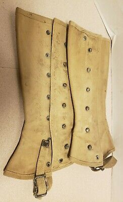 Spats, Gaiters, Puttees – Vintage Shoes Covers WWII US Army Canvas Military Gaiters Leg Shin Spats size-3 $12.99 AT vintagedancer.com