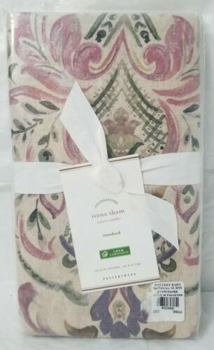 "Pottery Barn Ivana Pillow Sham Standard 26"" x 20"" Multicolor - Free Shipping"