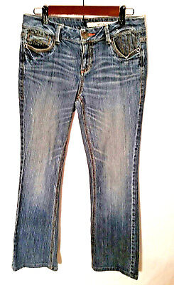 - DKNY Women's Jeans Medium Fade Wash Zip Back Pockets Stretch Boot Cut Size 6
