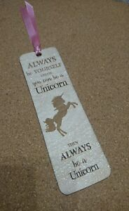 Unicorn Wooden Bookmark - laser engraved with  unicorn quote