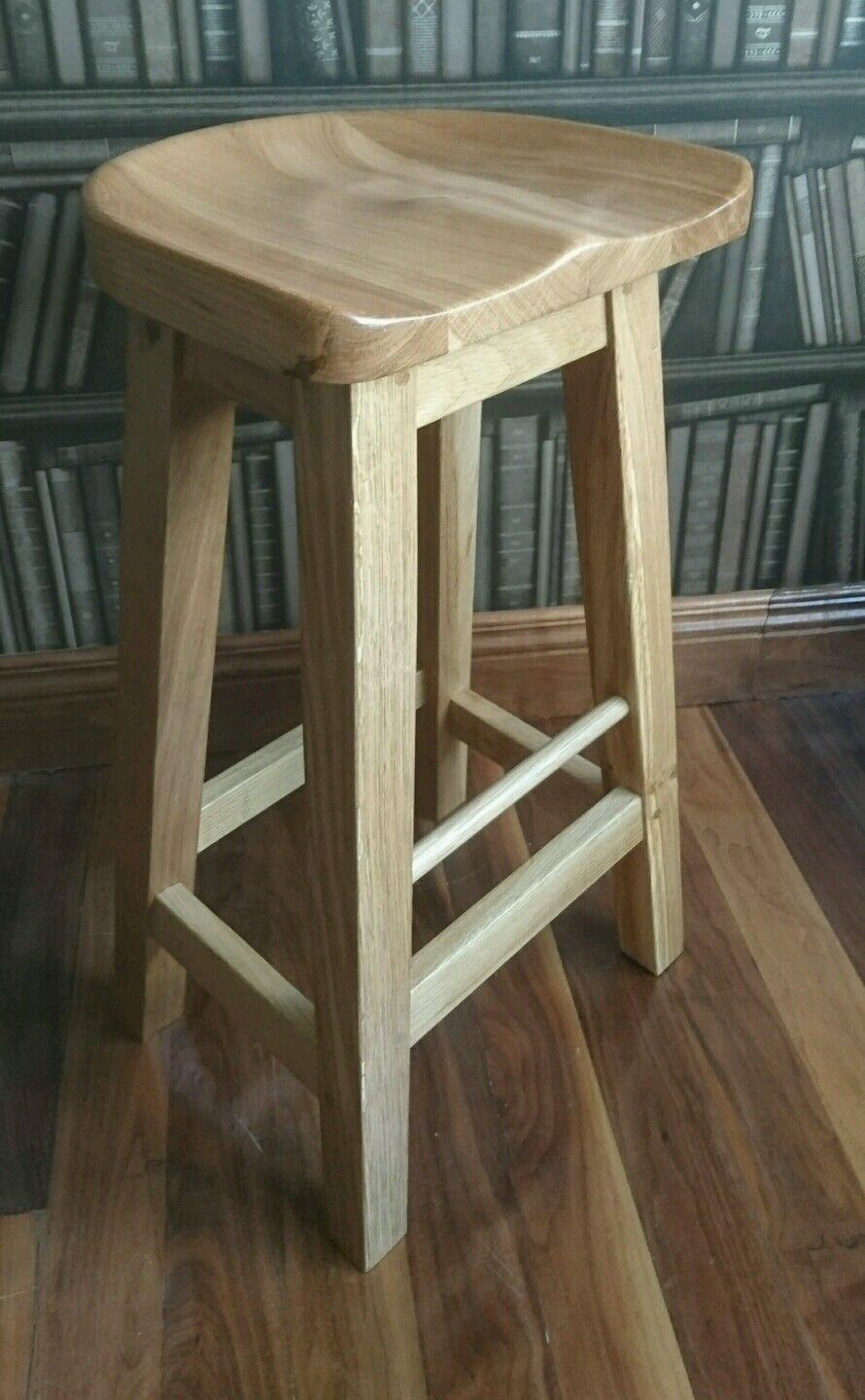 Details About Reguiny Oak Kitchen Breakfast Bar Stools Solid Wood Stool Dinning Seat