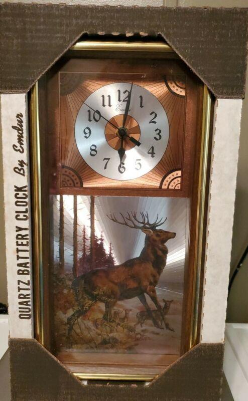 Deer Quartz Battery Clock By Emdur