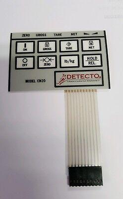 Detecto Indicator Cn20 8 Key Front Panel Keypad Layover Membrane Switch