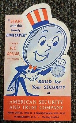 1959 Vintage DC Dollar Dime Saver Advertisement American Security Trust Co