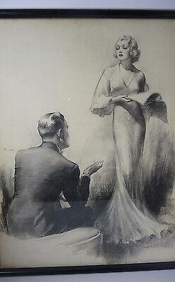 Original BRADSHAW CRANDELL Illustration 1930s COSMOPOLITAN Magazine