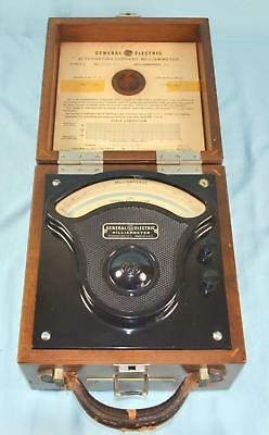 Vintage Ge General Electric Model P-3 Ac Milliammeter