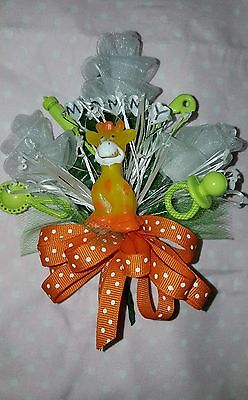 Baby shower corsage jungle theme zebra giraffe - Monkey Baby Shower Theme