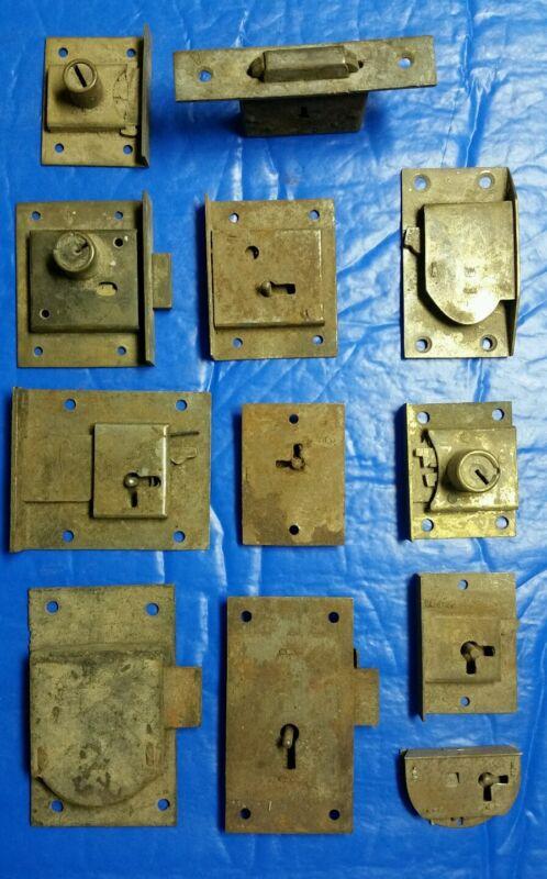 12 vintage antique cabinet locks (B)