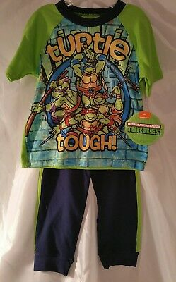 - Ninja Turtles Childrens 2 pieces Shirt Pants Kids Clothes Mutant New Toddler Boy
