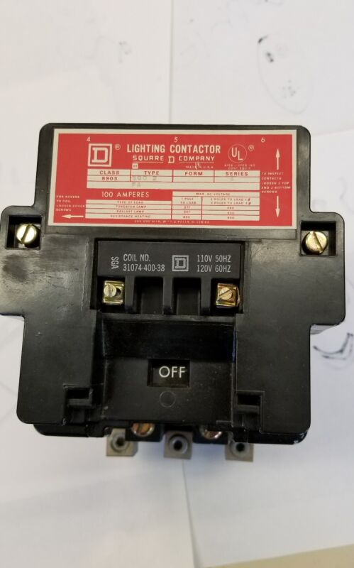 8903 SQO2 SQUARE D LIGHTNING CONTACTOR 100 AMP