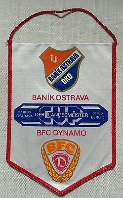 Wimpel BFC Dynamo Berlin Baník Ostrava DDR Oberliga vlajka ČSSR Česko pennant online kaufen