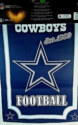 Dallas Cowboy NFL Garden Banner Flag  18 X 12.5 inches  New Double Sided  - Dallas Cowboy Banners