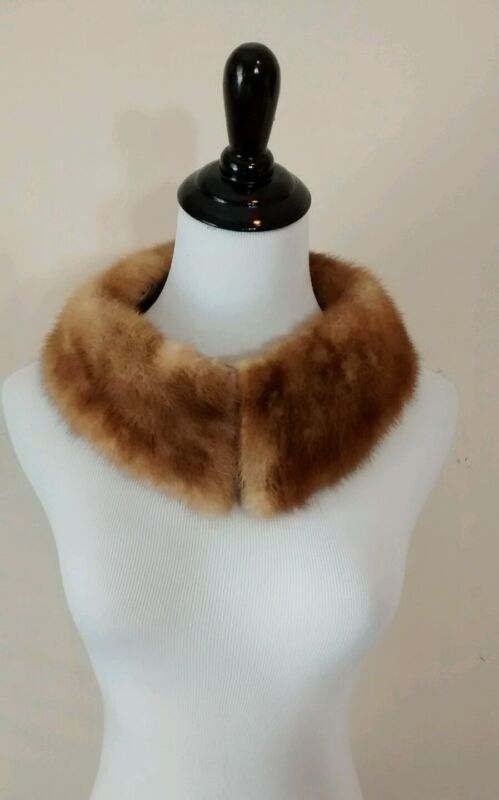 Vintage Detachable Real Genuine Fur Collar