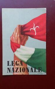 TRIESTE-LEGA-NAZIONALE-A-COLORI-NON-VIAGGIATA-ILL-E-NOIRE