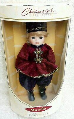 Christine et Cecile Mundia  Les ROMANTIQUES 4745 Collector's Porcelain Doll EUC for sale  Bolingbrook