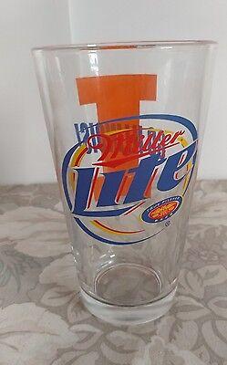 (Miller Lite Pint Glass GO ILLINOIS/ Fighting Illini)