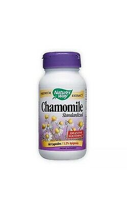 Chamomile Standardized Extract Nature's Way 60 Caps FAST 1st Class SHIPPING (Chamomile Standardized Extract)