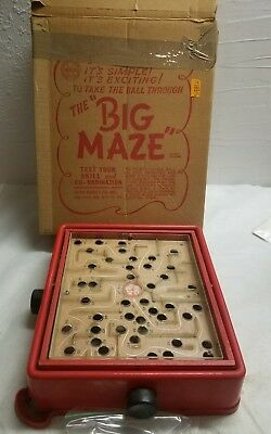 Vintage The Big Maze Game with original box - Louis Marx - Big Maze