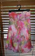 Forever New Floral Pinky strapless silk Summer Race dress 8 Forrestfield Kalamunda Area Preview