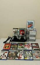 SONY PLAYSTATION 2 FAT BLACK CONSOLE PS2 2 controllers 30 games m Holden Hill Tea Tree Gully Area Preview