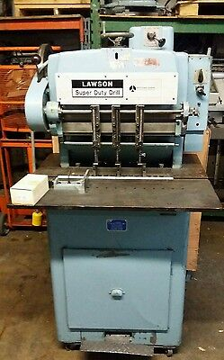 Lawson 3-hole Paper Drill - Heavy Duty Floor Model With Extras Tested Challenge