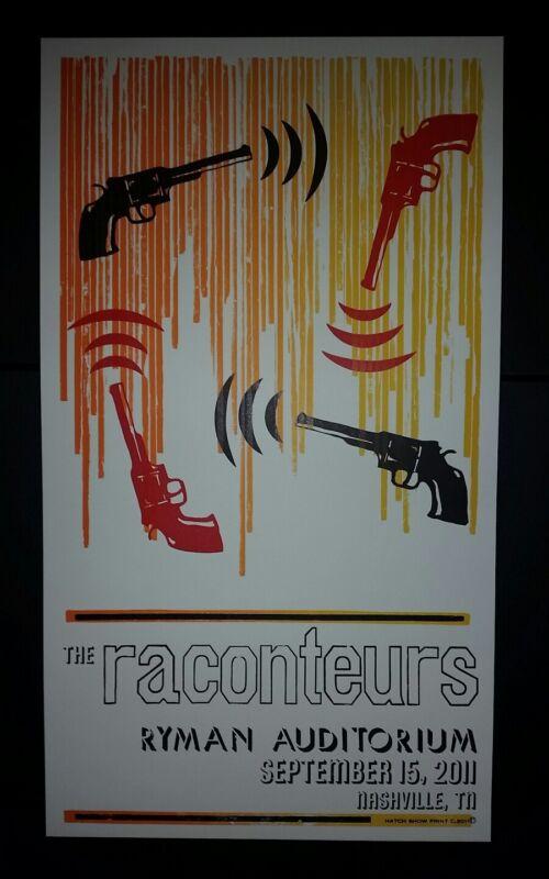 RACONTEURS Ryman 2011 HATCH SHOW PRINT Nashville Tour Poster Jack White Stripes
