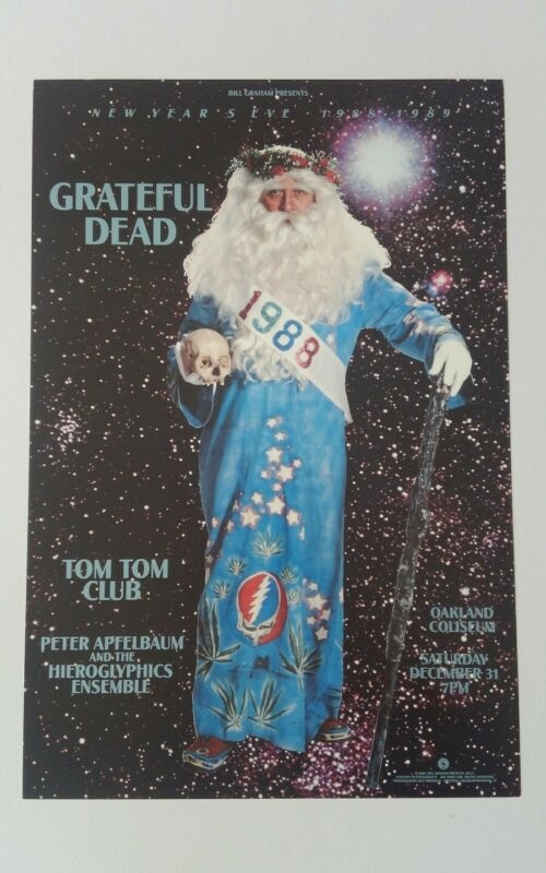 Grateful Dead New Years 1988 BGP 31 father time Poster