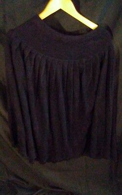 Vintage Chaus Wool Acrylic Blend Pleated A-Line Ankle Length Skirt Black sz L