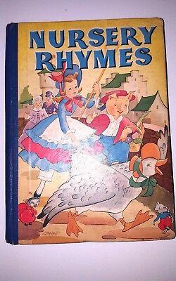 Vintage 1936 Nursery Rhymes Book Whitman Publishing