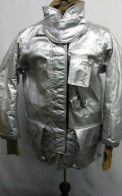 Globe Firefighter Aluminized Proximity Suit Jacket Size  42 X 32 Pre Owned