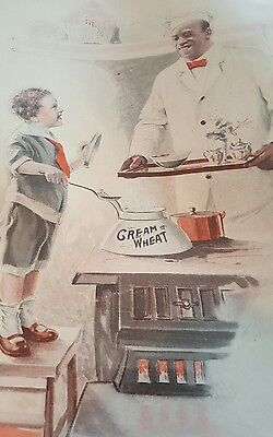 Antique Ad COOKING MAMA'S BREAKFAST Edward V. Brewer for Cream of Wheat 1917