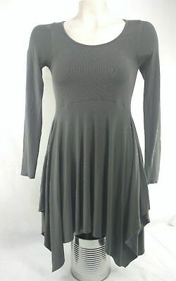 M. Rena Womens Sz S (One Size) Longsleeve Tunic Blouse Handkerchief Hem Grey   , used for sale  Palm Harbor