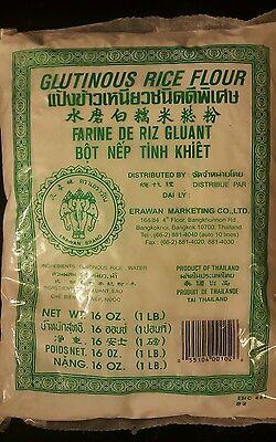 1 BAG OF   GLUTINOUS RICE FLOUR  16OZ  ERAWAN BRAND  free shipping!!