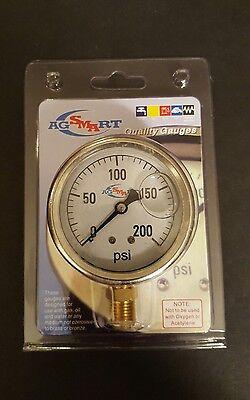 Ag Smart Liquid Filled Pressure Gauge 200 Psi 920-gg200