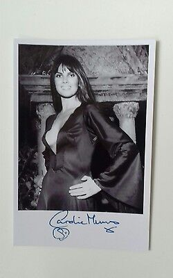 """HAMMER HORROR - Actress Caroline Munro Reproduced Autograph 6""""X4"""" Glossy Pic"""