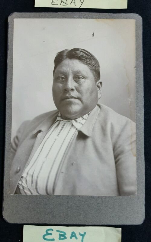 Cabinet Native American In Suit Haircut Navajo Debonair Antique Sepia