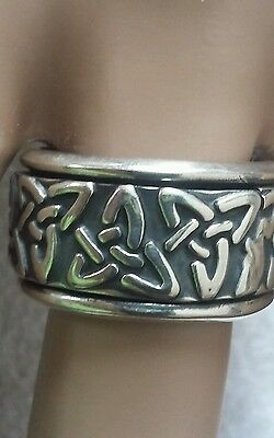 STERLING SILVER SPINNER RING CELTIC KNOT SPINNING  BAND MEXICO 925 SIZE 8.5