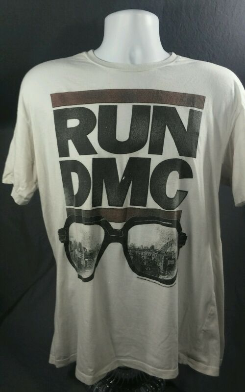 RUN DMC glasses T shirt, LIVE NATION, vintage, XL Mens
