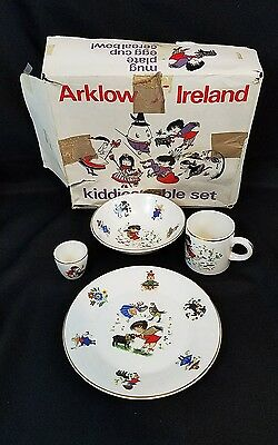 Arklow Ireland Vintage Children's Mug Plate Egg Cup Cereal Bowl Nursery Rhymes