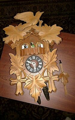 CUENDET CUCKOO CLOCK EDELWEISS SWISS MUSICAL MOVEMENT REPAIR OR PARTS