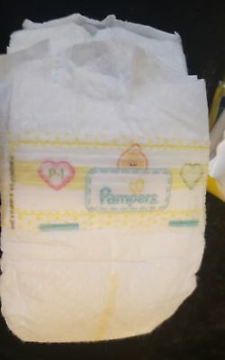 Preemie Baby Three (3) Diapers Newborn /Reborn Real Doll Pampers P Latex Free