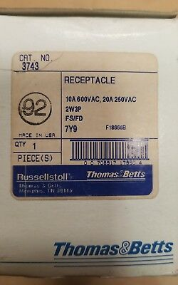 3743 Russellstoll 20 Amp Receptacle
