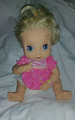 2006 Hasbro Baby Alive SOFT FACE TALKING BLONDE Doll English SHIRT DIAPER for sale  Buford