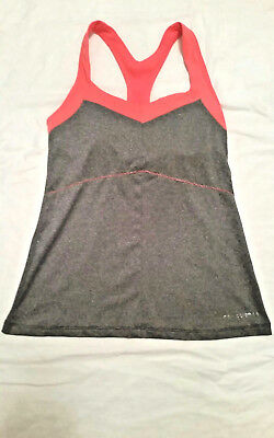 580da901ed NEW BALANCE Women s Racerback Unceasing Tank top sports bra Gray Orange Size  XS