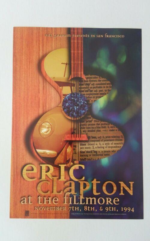 Eric Clapton fillmore poster original #169 Nov 94