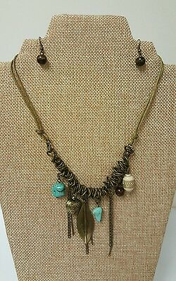Ideas For Dress Up (PRICE REDUCED for this Vintage Boho Necklace and Earring Set, Great Gift Idea!)