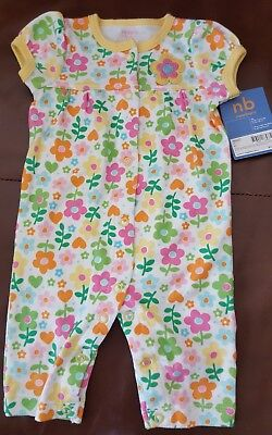 Carters Newborn Spring Sleep and Play Girl One Piece SS Outfit New w Tags