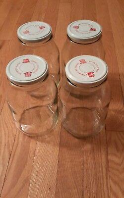 Big Glass Jars (Four  Big Glass Storage   Jar 64 oz)