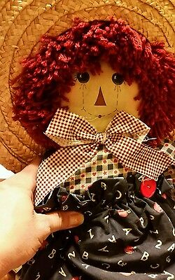 Raggedy Ann with wicker hat - Raggedy Ann Hat